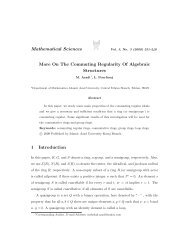 On the Commuting Regularity of Algebraic Structures - Mathematical ...