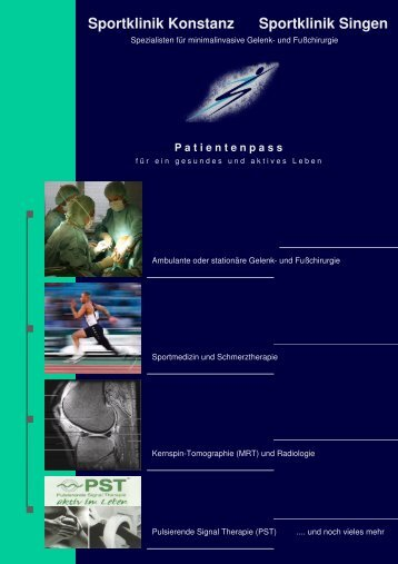 Sportklinik Konstanz Sportklinik Singen - Sportklinik Konstanz GmbH