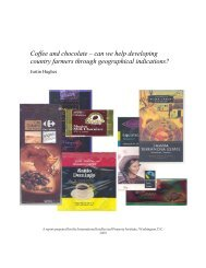 Coffee and chocolate - International Intellectual Property Institute