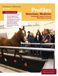 Winter 2008 - University of Minnesota College of Veterinary Medicine