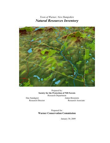 Natural Resources Inventory - Town of Warner