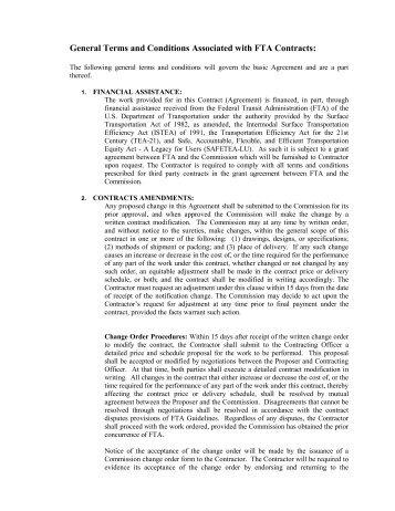 Fta Contract Provisions For Service Vehicles Ifb Mtd Santa Barbara