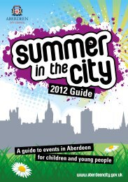 Summer in the City 2012 - Aberdeen City Council