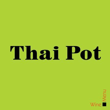 Wine Menu - Thai Pot
