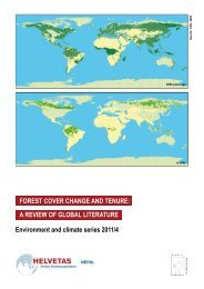 Forest cover change and tenure: a review oF global literature ...
