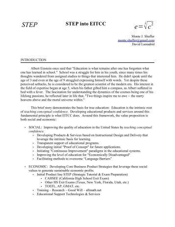 STEP e= - Applicant seeking PhD in Marketing :: Monte Shaffer