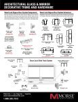 ArchitecturAl glAss & mirror decorAtive trims And ... - Morse Industries - Page 4