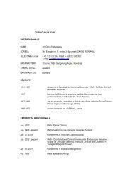 curriculum vitae date personale - Institutul Clinic de Boli Digestive si ...