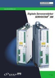 Digitale Servoverstärker SERVOSTAR 300 - BIBUS SK, sro