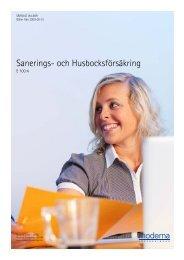 Sanerings- och Husbocksförsäkring - Moderna Försäkringar