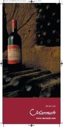 Wine List - Maroush