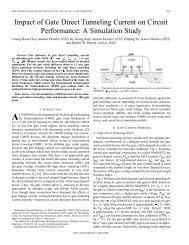 Impact of Gate Direct Tunneling Current on Circuit Performance: A ...