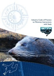 Industry Code of Practice to Minimise Interactions with Seals. 12 pp.