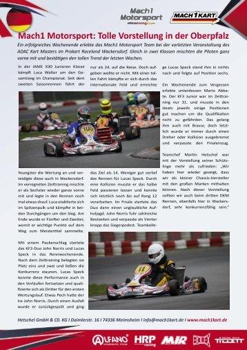 Download der Pressemeldung als PDF-Datei - Mach1 Kart