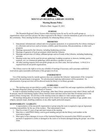 meeting room policy permit application forms burbank public