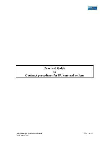Practical Guide to contract procedures for EC ... - Europe Direct Iasi
