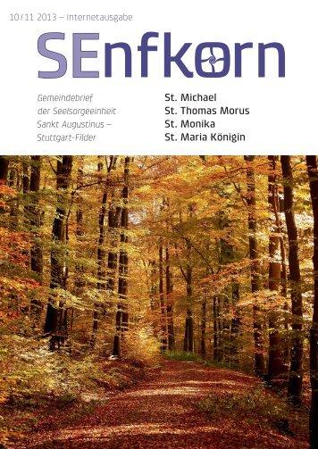 Senfkorn 10/11 - Katholische Kirchengemeinde St. Michael, Stuttgart ...