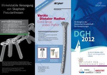 DGH 2012 - Plastische Chirurgie Lübeck