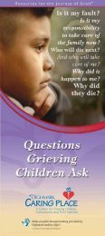 Questions Grieving Children Ask - Highmark Caring Place