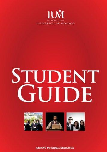 Student Guide - International University of Monaco