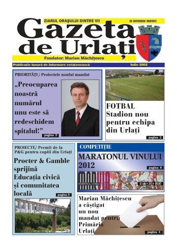 Gazeta de Urlați - editia Iulie 2012 - Oraşul Urlaţi