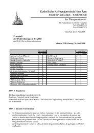 Protokoll der PGR-Sitzung am 5. Mai 2008 - Herz Jesu Fechenheim