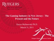 The Gaming Industry in New Jersey: The Present ... - (ESC) at Rutgers