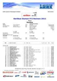 Oerlikon Damen FIS Rennen 2011 - Zentralschweizer Schneesport ...