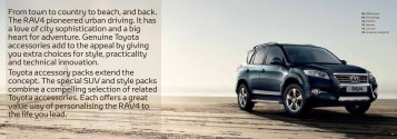 From town to country to beach, and back. The RAV4 ... - Accessories