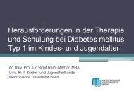Herausforderungen in der Therapie des Diabetes Mellitus Typ I