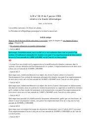 LOI n° 8819 du 5 janvier 1988 relative à la fraude ... - Globenet
