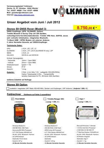 Unser Angebot vom Juni /  Juli 2012 8.750,00 - bei ...