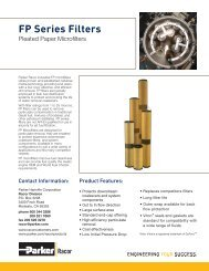 FP Series Filters - Bolland Machine