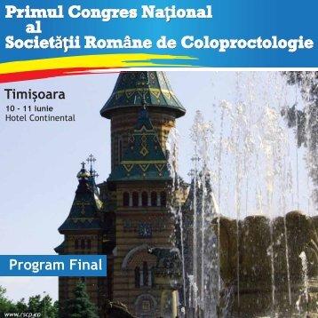 Programul congresului - Societatea Romana de coloproctologie