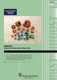 HIDUST ® Cores for choke coil / Choke coil