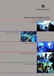 Ausgewählte Projekte 2002 - Steinbeis-Transferzentrum Infothek