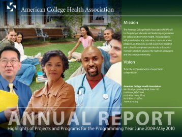 Mission Vision - American College Health Association