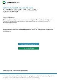 Potenzgesetze - Fortgeschritten - Mathematik ... - unterricht.de