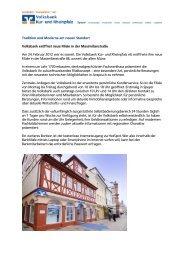Tradition und Moderne am neuen Standort ... - Volksbank Kur