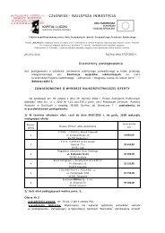 Wynik przetargu w części nr 1 (PDF - 200KB) - Strona główna ...