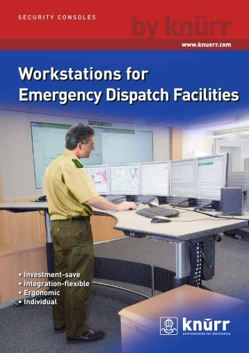Workstations for Emergency Dispatch Facilities - Technical Furniture