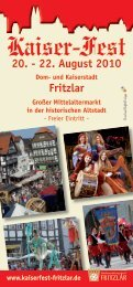 20. - 22. August 2010 Fritzlar - Minnesang