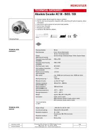 TECHNICAL DATASHEET Absolute Encoder AC 58 ... - Sensorola