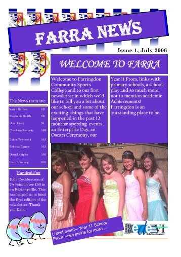 Farra News Issue 1 - Sunderland Learning Hub