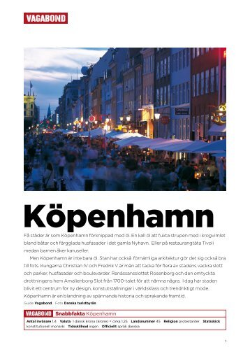 Snabbfakta Köpenhamn - Vagabond