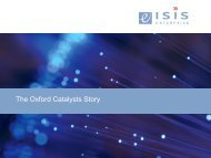 The Oxford Catalysts Story