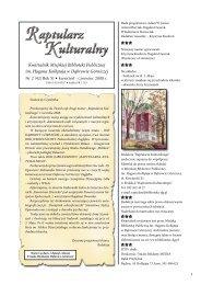 Raptularz 2/2008 - Miejska Biblioteka Publiczna w Dąbrowie Górniczej