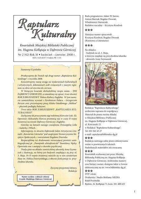 Raptularz 22008 Miejska Biblioteka Publiczna W Dąbrowie