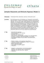 Lehrplan Klassische und Klinische Hypnose (Modul 1)