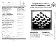 Kirchennachrichten Juni / Juli - Kirchspiel Radeberger Land
